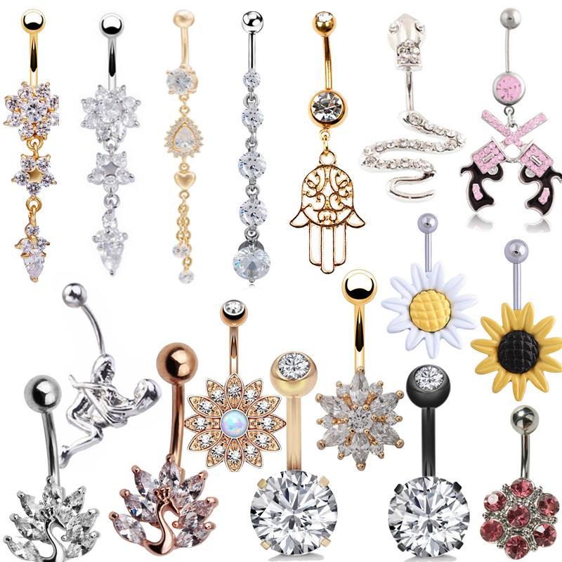 Sexy Dangling Navel Belly Button Rings Belly Piercing Crystal Surgical Steel 14g Woman Body Jewelry Barbell China Body Art Doncaster Tattoo From Pingwang6 102 59 Dhgate Com