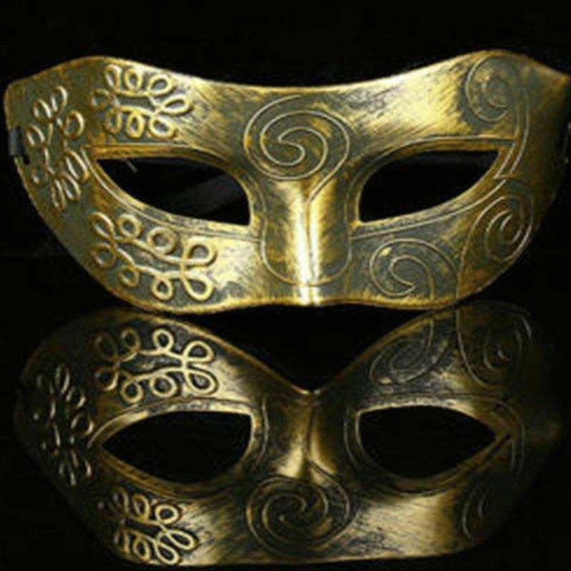 Men Burnished Antique Silver//Gold Venetian Mardi Gras Masquerade Party Ball Mask