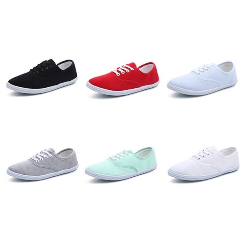 2019 럭셔리 디자이너 여자 캔버스 신발 간단한 스타일 니트 신발 유행 여자 신발 장기 가용성 많은 클래식 컬러 36-42