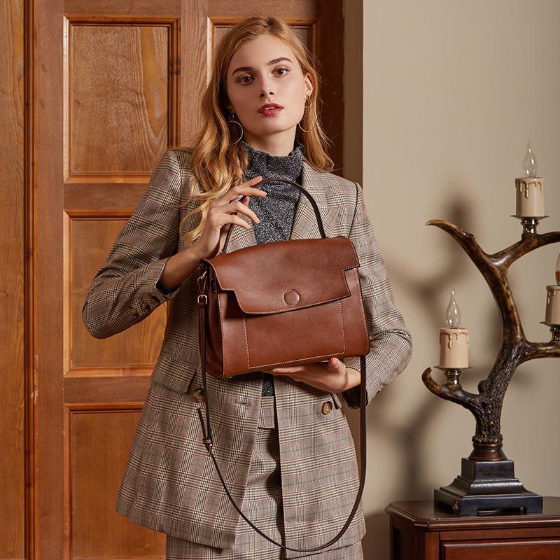 Couro Ladies Bag New Ombro Casual Bag Ombro Mensageiro