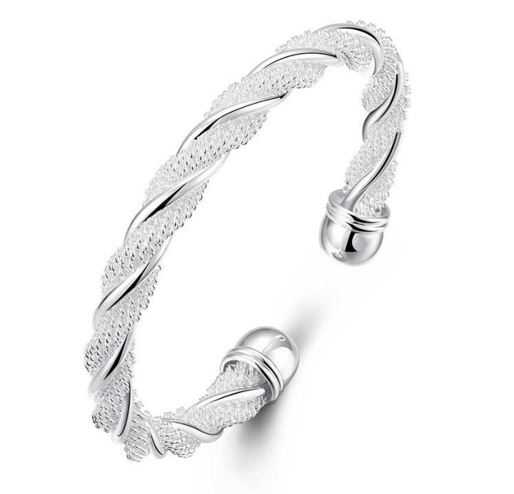 Luckyshine 925 Silver 10 piece New Product Charm Handmade Bracelet Antique Silver Bracelet Bangles For Women Holiday Party N133