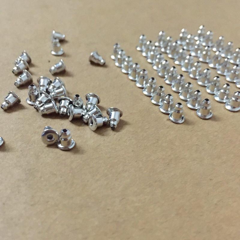 حلق العودة سدادات 50pcs ذهبية اللون الروديوم لسدادات أقراط عشيق هوك ، DIY النتائج مجوهرات أجزاء ES4