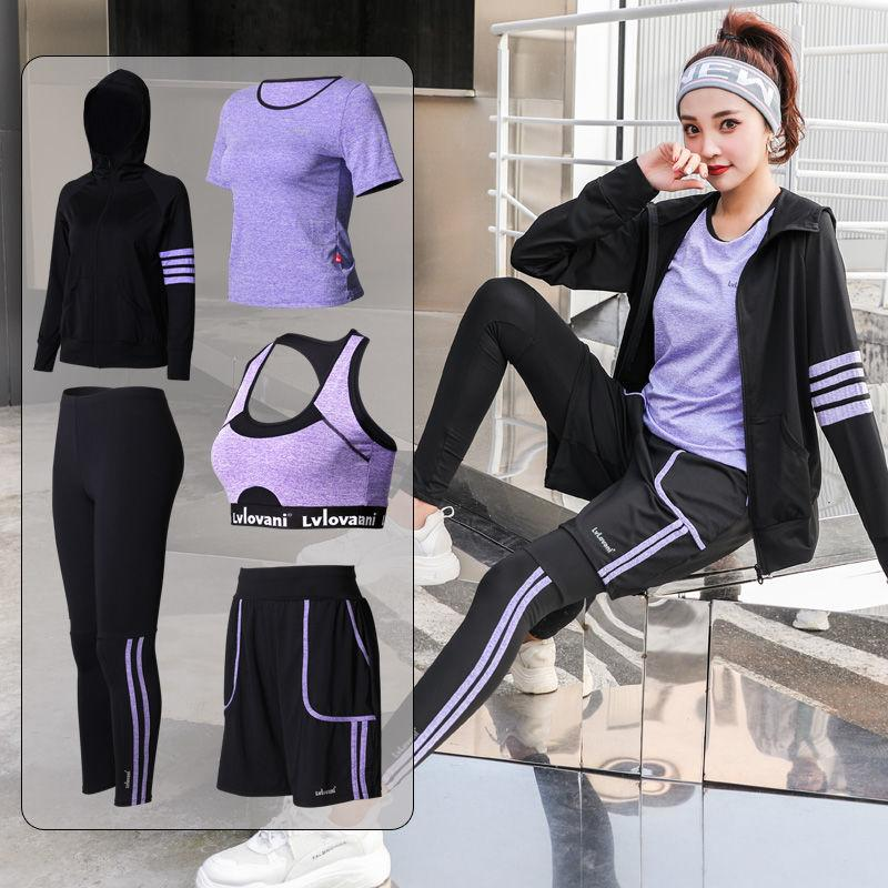 2020 New Women Yoga Set Female Sports Gym Fitness Clothes Plus Size Workout Bra T Shirt Shorts Pants Sportswear Leggings Set From Marchnice 36 3 Dhgate Com