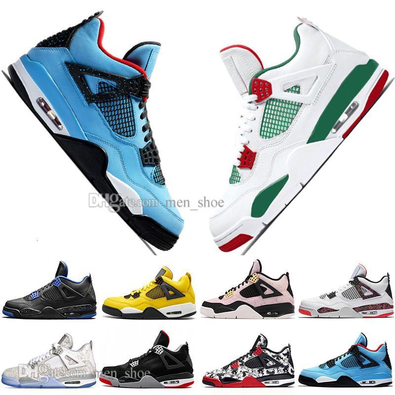 Nuevos 2019 más nuevos Bred 4 4s lo que los zapatos Cactus Jack láser Alas de baloncesto del Mens Denim azul pálido Eminem Citron Hombres Deportes zapatillas de deporte de diseño
