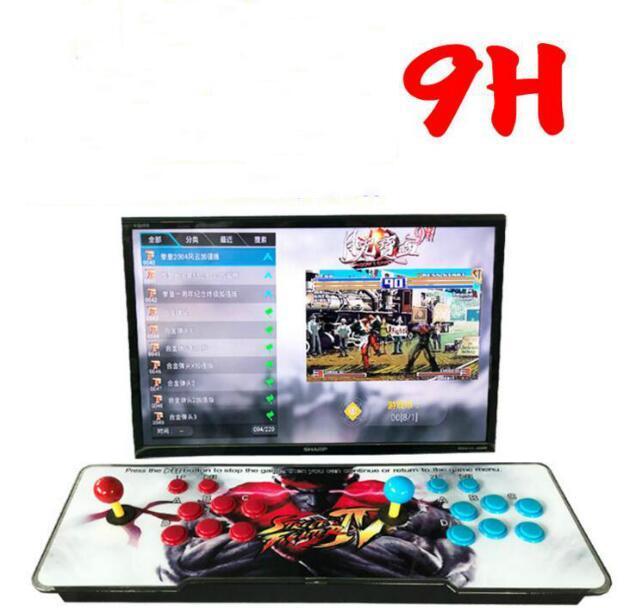 2199 3D HD 게임] 판도라 9H 3D 1280 * 1080P 32기가바이트 아케이드 비디오 게임 콘솔 박스 아케이드 기계 더블 아케이드 조이스틱 스피커 yx2199