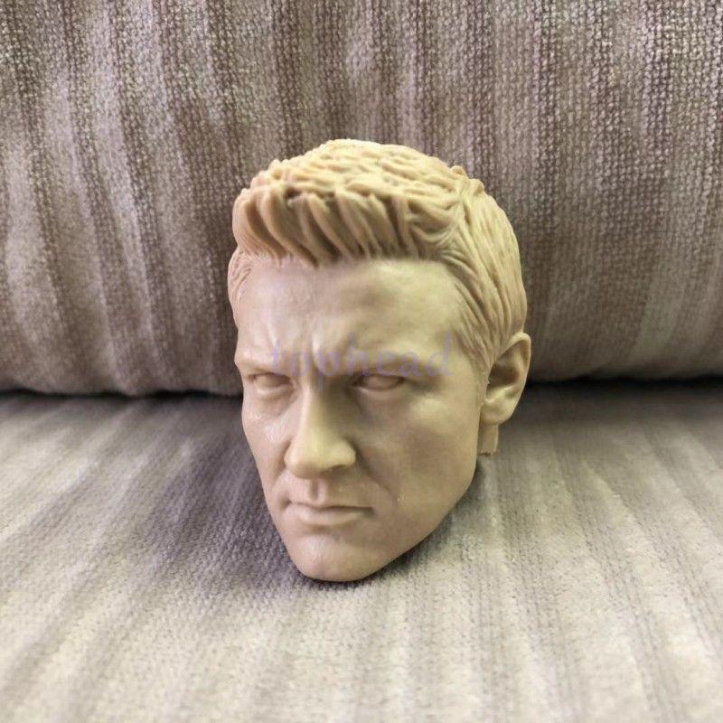 1:6 Hawkeye Male Head Sculpt Avengers Jeremy Renner Model Fit 12/'/' Action Figure