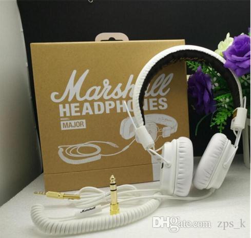 Stereo Hot Marshall 1 Moto Headphone Car buon suono auricolare cablato alta qualità ha fissato Headset Nero