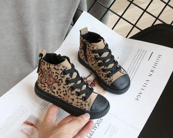 어린이 소녀 소년 하이 탑 캔버스 신발 가을 겨울 사이드 지퍼 학생 스포츠 신발 새로운 스타일의 아이 아기 캐주얼 운동화