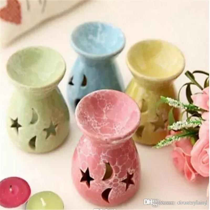 A30 Parfum Céramique Huile Burners lavande aromathérapie parfum Bougie essentielle Olio-cadeaux Ceramica bougie Lampes b171-178 2018011005