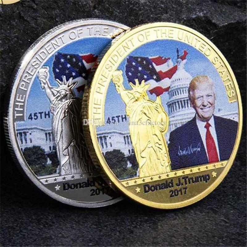2017 دونالد ترامب الرئيس الأمريكي 45 عملة تذكارية جعل أمريكا العظمى مرة أخرى