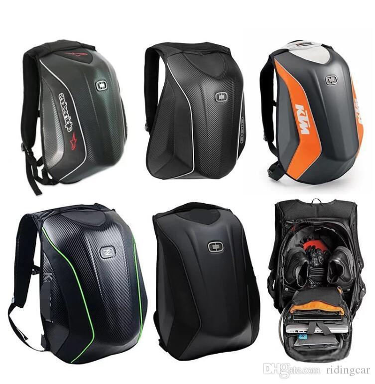 OGIO 오토바이를 타고 배낭 어깨 기사 기관차 배낭 남성 KTM 하드 쉘 가방 헬멧 가방 탄소 섬유 방수에게
