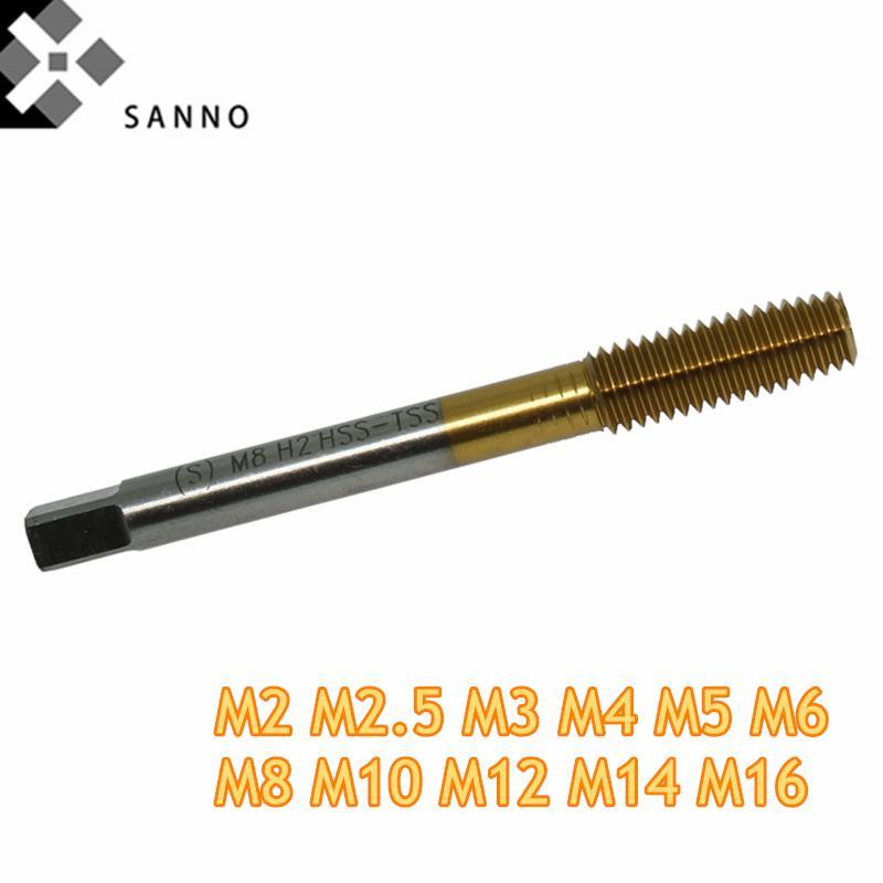 M2 / M2.5 - M16 Extrusão torneira HSS Co fio máquina de formação da torneira fluxo rolo métrica rolando fio tocando para aço inoxidável