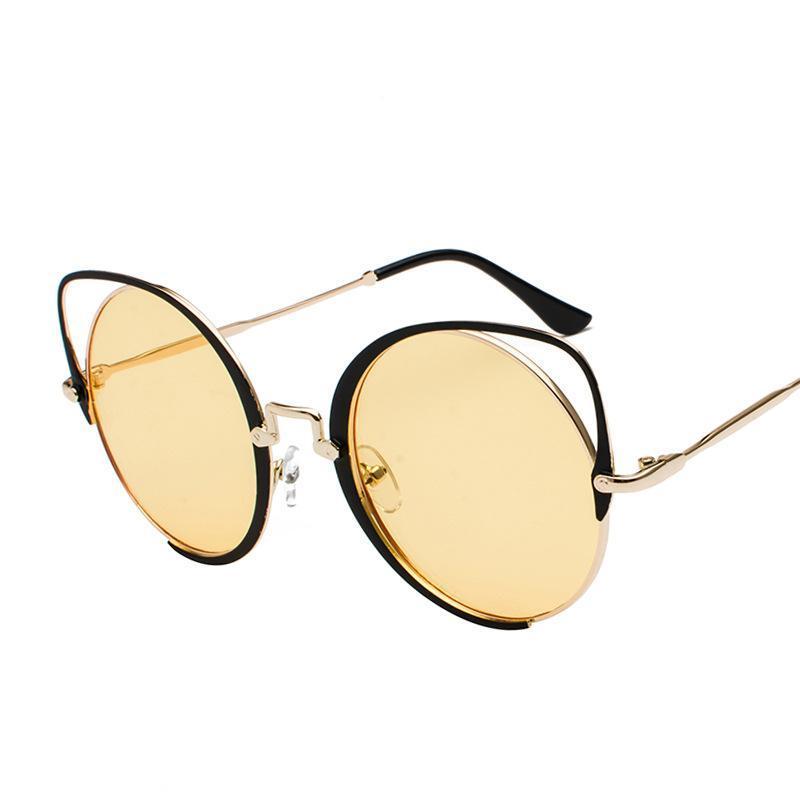 Qualitäts-Super Mode Frauen Männer Retro Katzen-Dekoration Spiegel-Objektiv-Sonnenbrille der neuen Ankunfts-Trending Punk Brille NX