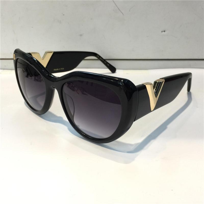 Z0902E очки для женщин Популярные ретро Урожай Женщины дизайнер солнцезащитные очки Shiny Gold Summer Style Laser Top покрынная Придите с случаем