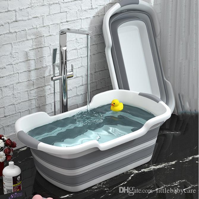 للطي استحمام الطفل حوض المحمولة سيليكون الحيوانات الأليفة حمام الكلب أحواض اكسسوارات لطي الغسيل سلة التخزين الأمن السلامة