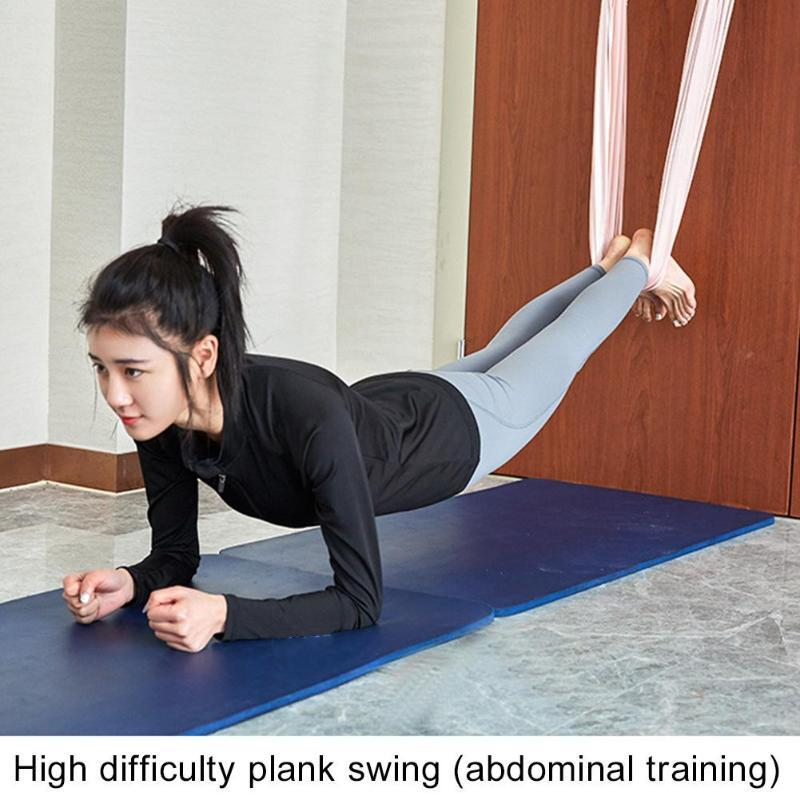 Flexible Gym Hanging Inversion Swing Aerial Yoga Hammock Stretcher Band Belt for lower waist stretching splitting flexibility