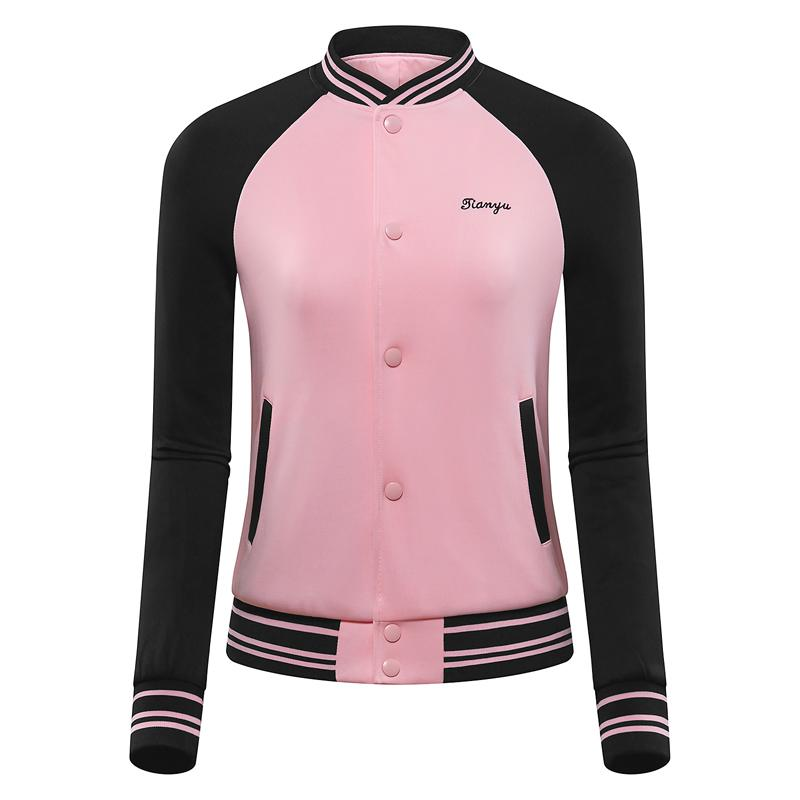 Hiver Femmes Golf Baseball Veste Patchwork Sport Coat Golf Windbreaker Ladies Wear coupe-vent formation D0813