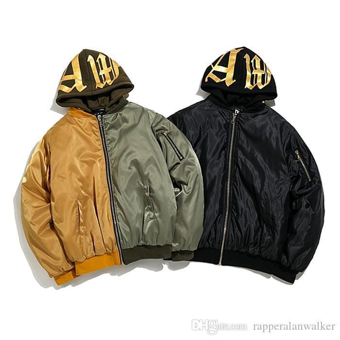 Oversize Ceketler Kapşonlu Uzun Kollu Nakış Homme coupl Giyim Moda Stil Hip Hop Gündelik Giyim Erkek Kış Tasarımcı