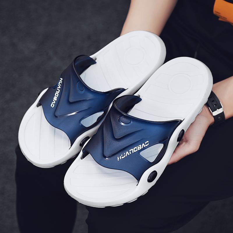 Chaussons Hommes Chaussures d'été Salle de bain Slipper Homme Plage Sandales Mode Pantoufles antidérapante Flip Flops au sol