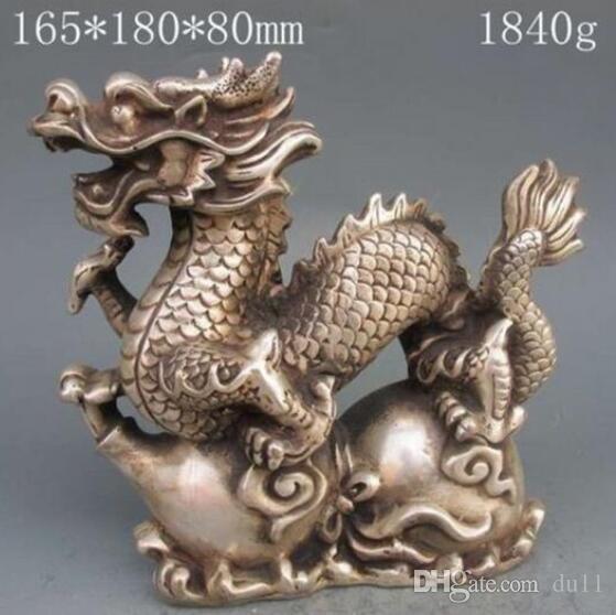HANDARBEIT EINZIGARTIGER SILBERKUPFERELEFANT Chinesische Silberbronzestatue - Drachenkürbis mit Ming-Dynastie Xuan De Mark