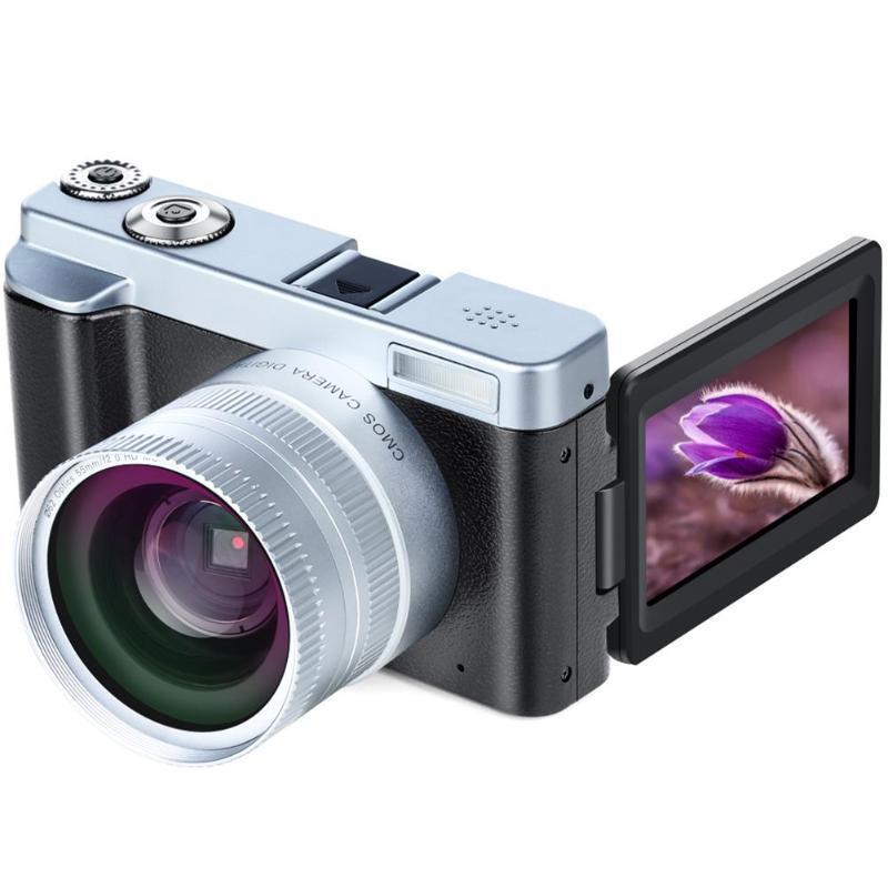 2019 New DC102 Flip Screen Wireless WIFI Dual Wide Angle Lens Full HD 1080P 24MP 16X Zoom Digital Camera Video Recorder