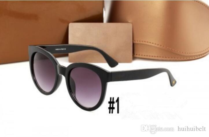 3810 Nuovo Little Bee Occhiali da sole Tri-colore a contrasto occhiali rotondi netto occhiali da sole rossi allo stesso modo
