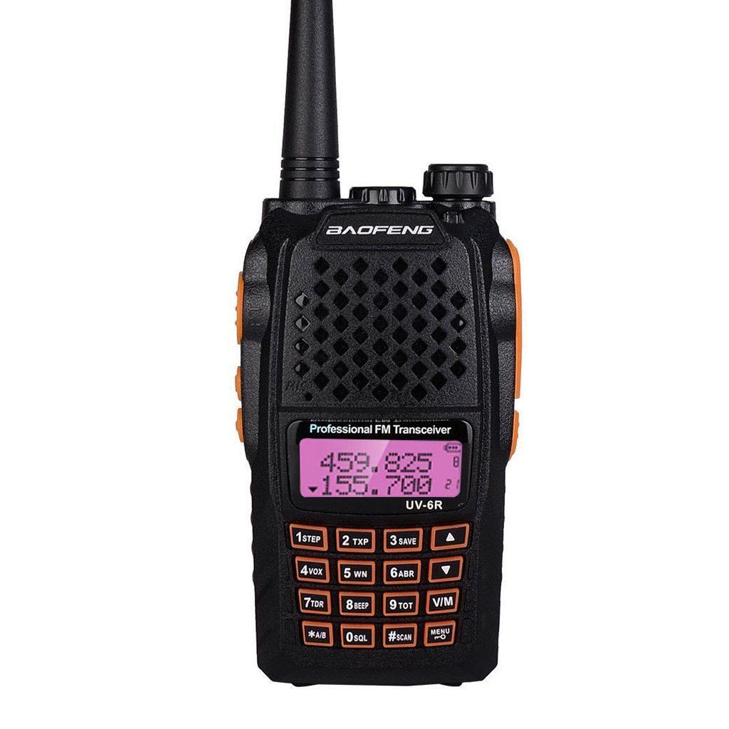 10pcs 8W Baofeng UV-6R Walkie Talkie Two Way Radio Dual Band Vhf Uhf high quality more than baofeng uv-5r