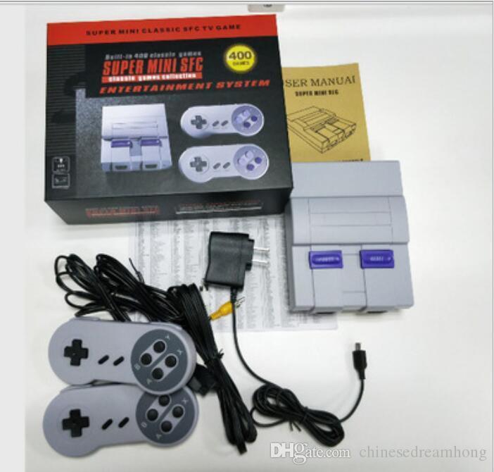 ل Famicom البسيطة SFC TV لعبة فيديو وحدة التحكم يده نظام الترفيه على NES SNES ألعاب الإنجليزية صندوق البيع بالتجزئة