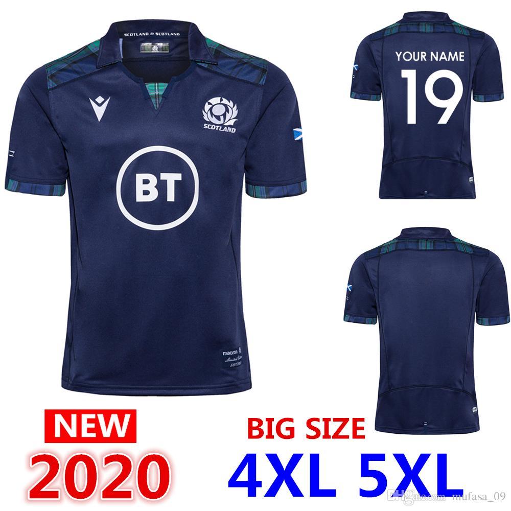 nome personalizzato e maglia numero 2020 Scozia casa Rugby Maglie SCOZIA squadra nazionale di rugby Jersey camicia International League