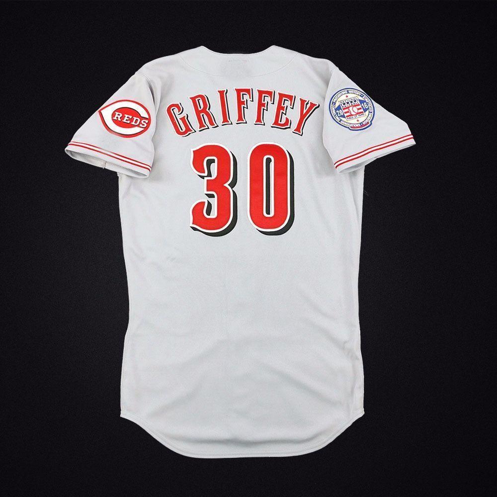 100% Stickerei GRAY Ken Griffey Jersey nähte fertigen jede Zahl Name MEN Jerseys der NCAA-JERSEY