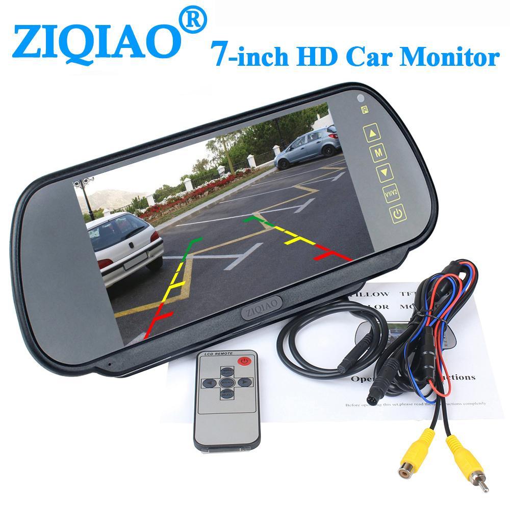 espelho de carro de 7 polegadas de estacionamento traseiro View System Rear View sistema de monitoramento de câmera do carro