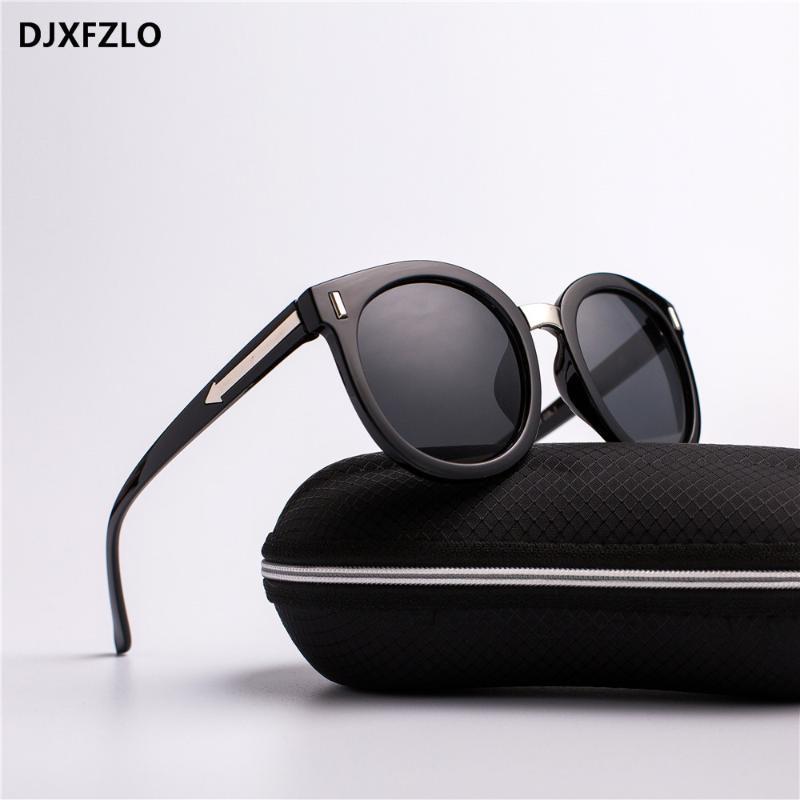 مصمم DJXFZLO أزياء للجنسين السهم الكلاسيكي النظارات الشمسية المرأة العلامة التجارية المسامير العاكسة ريترو أنثى نظارات شمسية