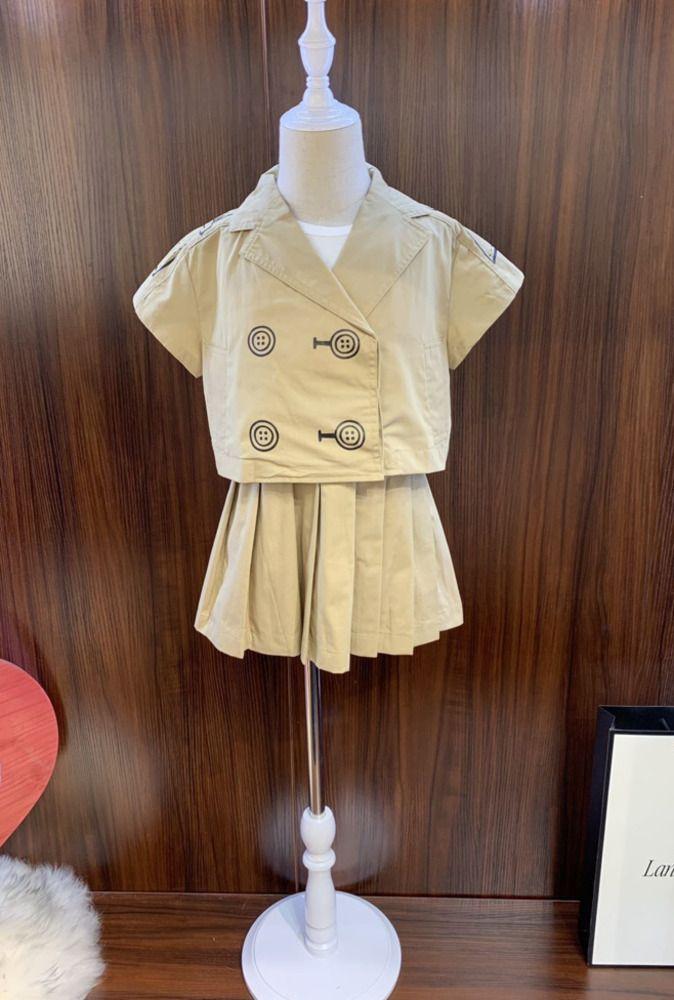 Filles Princesse Set robes intérieur doux pur coton et confortable nouvelle jupe plissée pur coton classique 031401