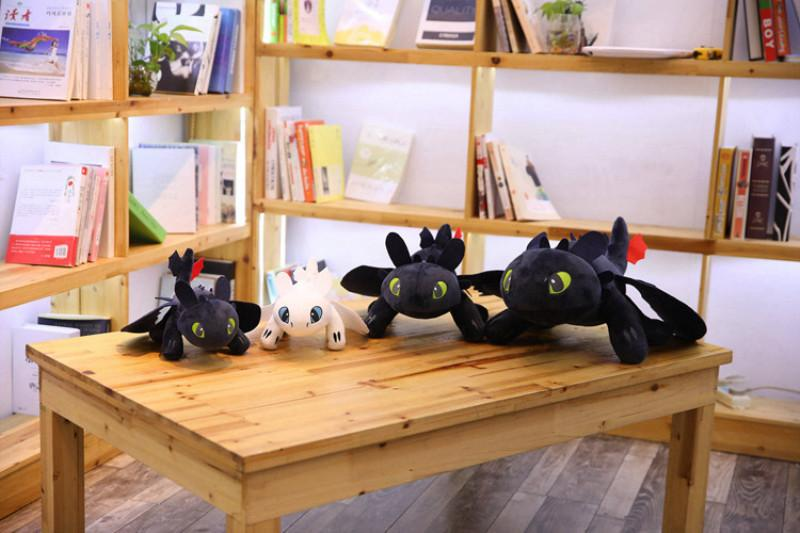 How to Train Your Dragon Plush Toys Toothless Light Fury Stuffed Animals Christmas Gifts Movie Anime Plush Doll Toys Stuffed Animals