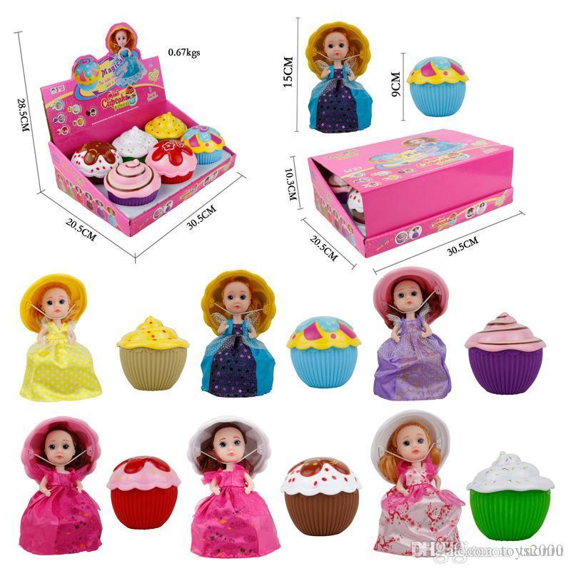 6 pçs / a caixa nova lol Princesa bonecas bolo menina transformada boneca grande festa vestido bonecos bonecos brinquedos