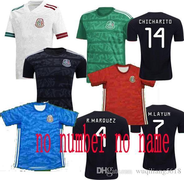 México Jersey 2019 H.LOZANO H.HERRERA R.MARQUEZ Chicharito A.GUARDADO LAINEZ 29 Soccer Jersey transporte rápido 19 20 mexicano camisa de futebol