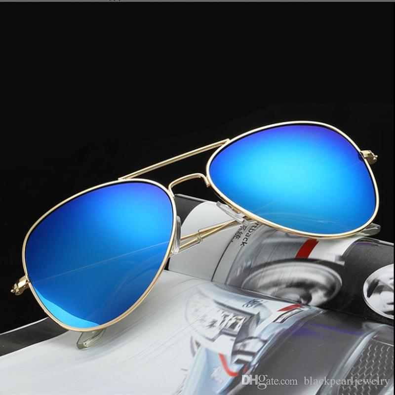 Marka Vintage Lens Polarize Klasik Erkekler için Pilot Oculos Gözlük Kadın Güneş Aynalı Degrade Gözlük Tasarımcısı Moda Güneş Gözlüğü Clipe