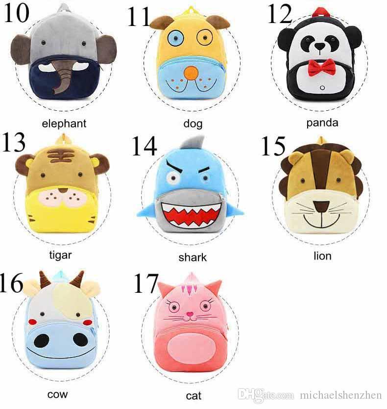 17 컬러 아이 3D 동물 배낭 아기 소녀 소년 유아 책가방 어린이 만화 사자 비 Bookbag 유치원 장난감 선물 학교 가방 C5
