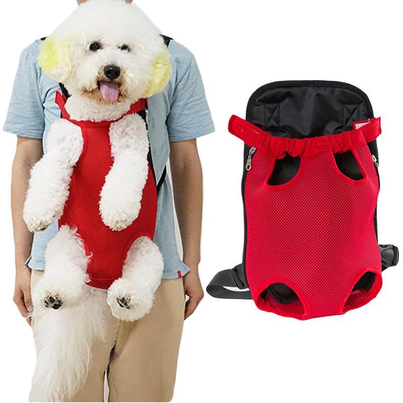 Pet Carrier Собака Передняя Грудь Рюкзак Пять Отверстий Рюкзак Собака На Открытом Воздухе Сумка Держатель Слинга Сетка Кошка Щенок