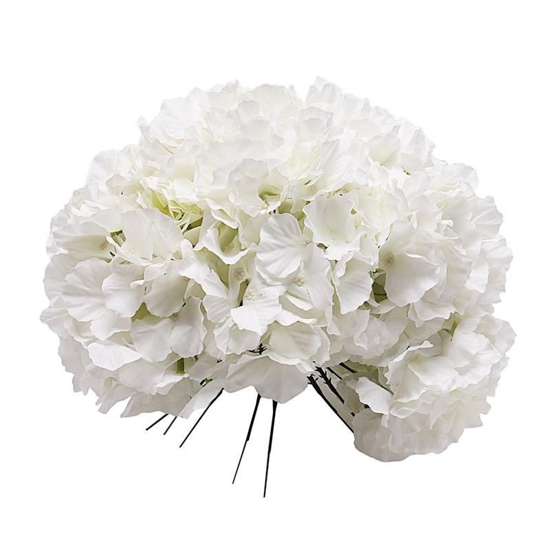 2020 10 Pack Artificial Hydrangea Heads With Stems Artificial