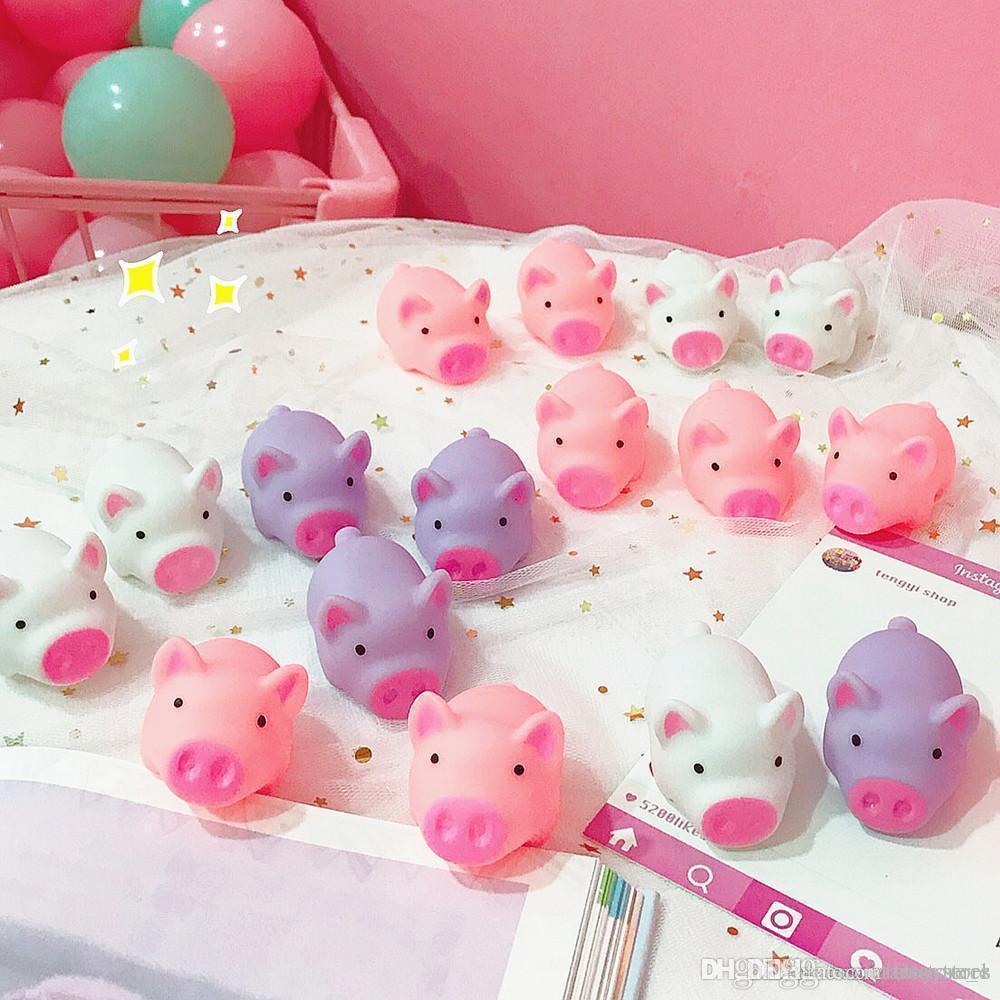 ht Nuevo del cerdo de juguete antiestrés Piggy Sondeo de silicona juguetes para apretar el estrés de socorro de juguete divertido de los niños regalo de decoración del hogar