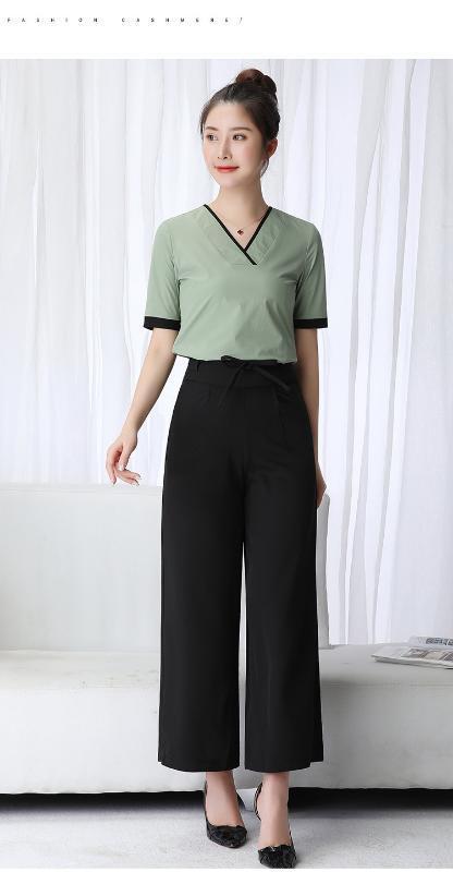 Mulheres uniforme workwear salão de beleza health club spa conjuntos de fatos esteticista F627