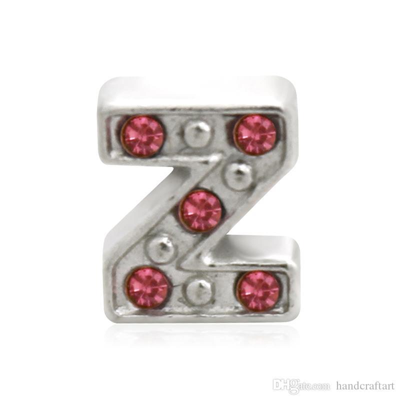 10 pz Rosso U-Z Alfabeto Lettera Fascino Galleggiante Iniziale Medaglione Pendenti Pendenti Per Medaglione Galleggiante FAI DA TE Fascino LSFC114