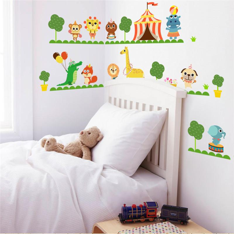 Dinosaur lion zoo Decal WALL STICKER Perfect for Boy Room UK
