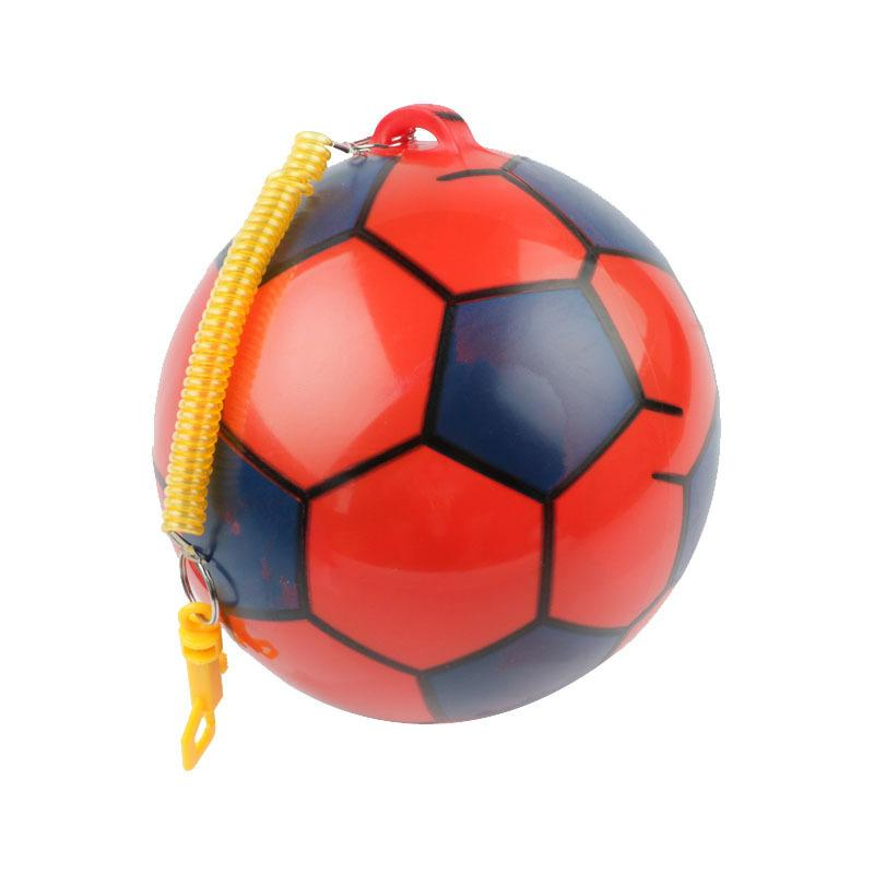 DHL 100pc NEW Inflatable Football With String Sports Kids Toy Ball Juggling Ball Outdoor kindergarten clap the ball Decompression toys