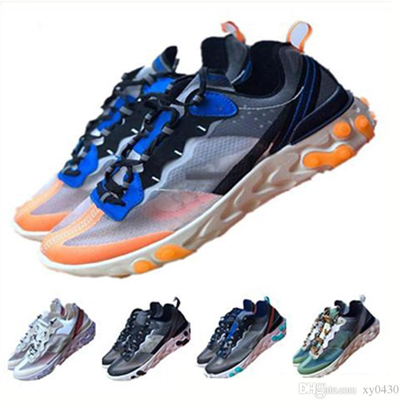 Volt Kraliyet Ton Toplam Turuncu Epik Eleman 87 Tepki Kadınlar erkekler Koyu Gri moda lüks erkek kadın tasarımcı sandalet ayakkabı için Ayakkabı Koşu