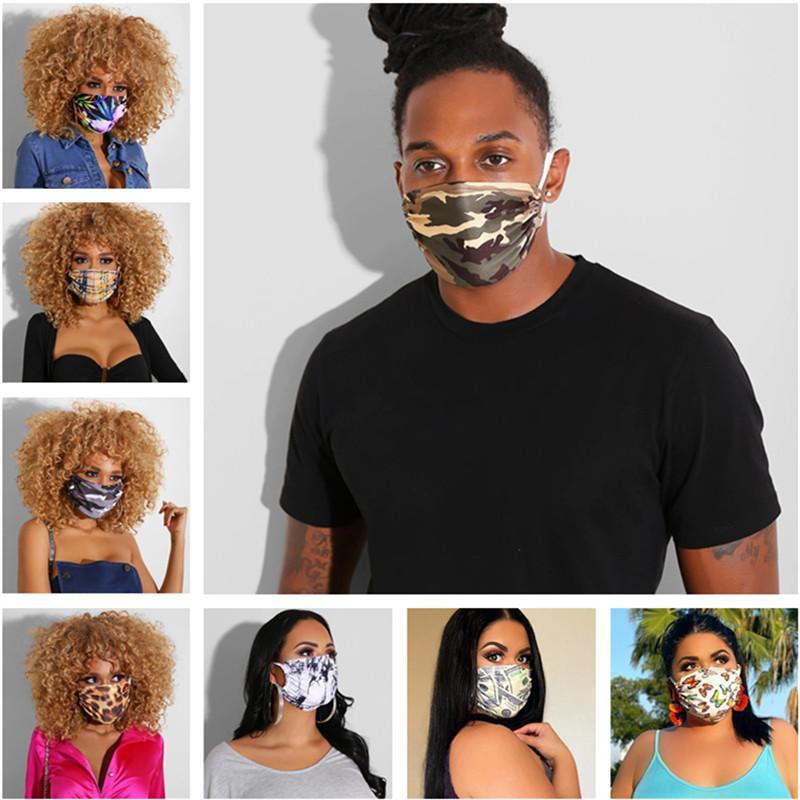 Мода для лица Маски Печать Мужчины Женщины Защитная маска Ультрафиолетовое доказательство пылезащитный Mouth Маски моющийся Спорта на открытом воздухе Велоспорт Маски 2020 INS