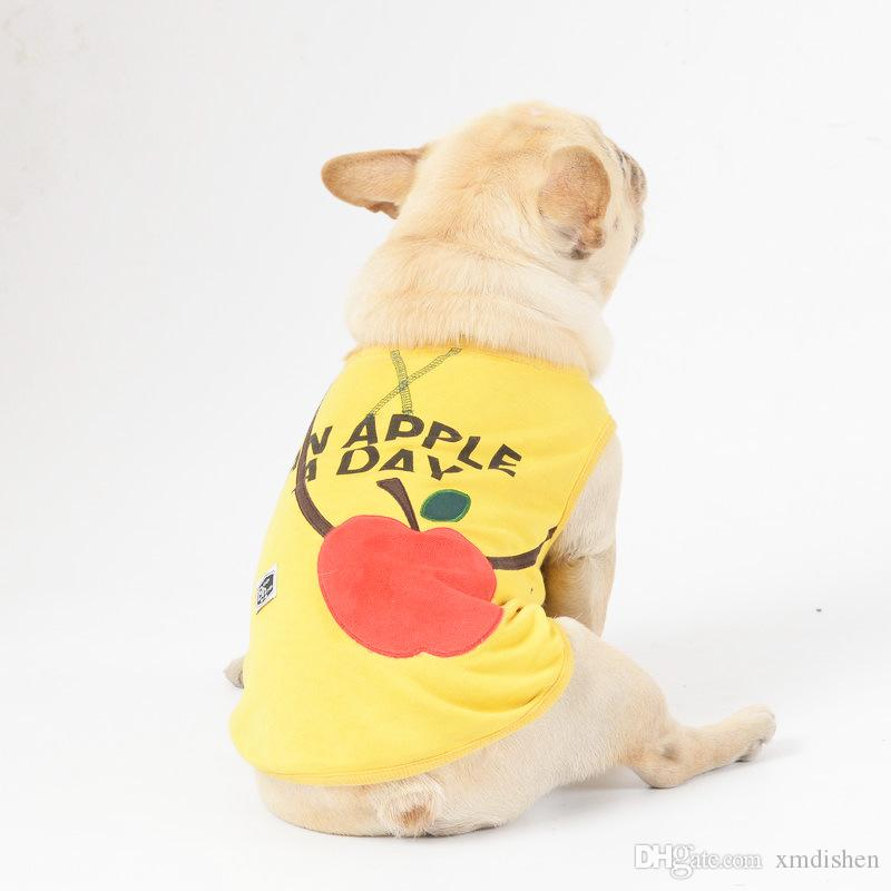 New Spring And Summerr Casual Style Letter Pattern Print Cotton Breathable Dog Vests High Quality Pets Apparel