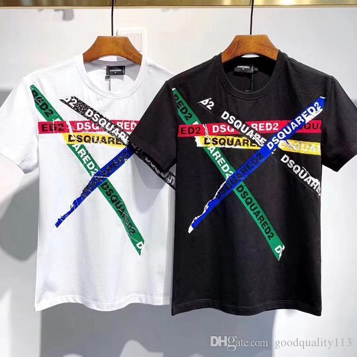 manches longues pour hommes de luxe italienne court t-shirt commes avec des tee-shirts de sport coeur des garcons blanc T-shirt Pablo été vétements dessus tees