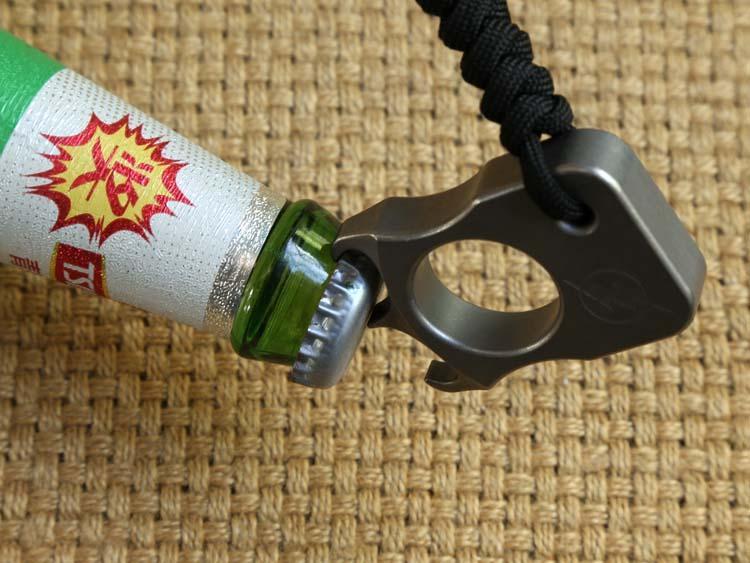 Vente en gros-DICORIA Andy Frankart SFK bague unique TC4 titane punch poignards en plein air boucle survie EDC Knuck knuckles Multi outils